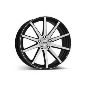 "alu kola AEZ straight Black/polished front 7,5x17"" 5x114,3 ET45 71,6"
